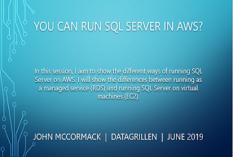 You can run SQL Server on AWS?
