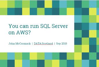 Data Scotland 2019 presentation