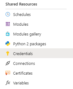 Add Credential To Azure Automation