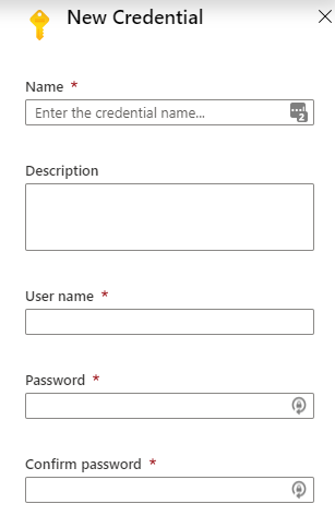 Add New Credential To Azure Automation